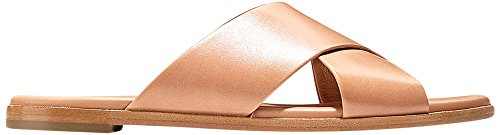 Cole Haan Donna Anica Criss Cross Slide Sandalo Sahara In Pelle