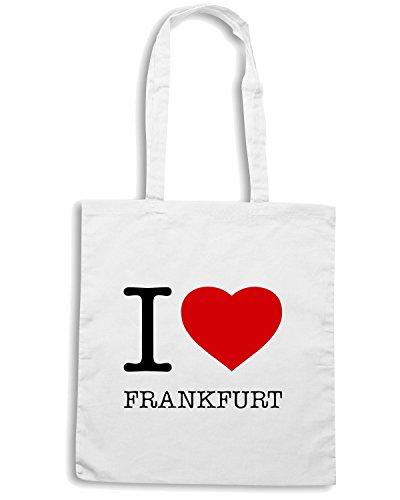T-Shirtshock - Bolsa para la compra TLOVE0022 i love frankfurt Blanco