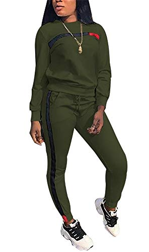 Sweatpants Set - LKOUS Women Tracksuit Set 2 Piece Outfit Shirt Top andf Sweatpants Jogger Sets Plus Size
