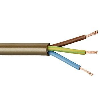 color dorado Bulk Hardware bh05698/Cables 2183y Ronda 3-core, 5/m, 0,5/mm