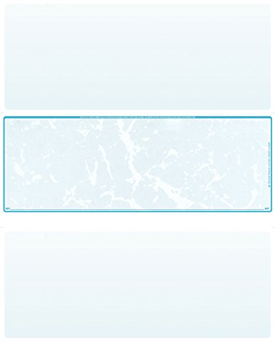 (500 Blank Laser/Computer Checks Middle Style (Teal Marble))