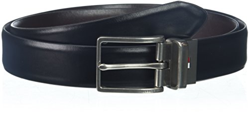 Tommy Hilfiger Men's Casual Reversible Belt, Black/Brown, 32 527 Belt