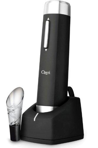 Ozeri Prestige Electric Wine Bottle Opener with Aerating Pou