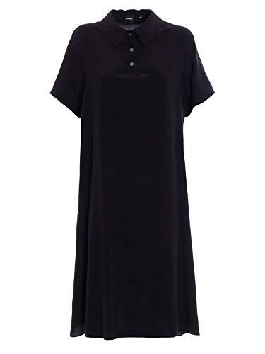 Aspesi 2901275305241 Mujer Seda Vestido Negro qWOx4wBq1Z