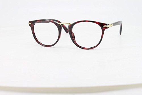 EyeBuyExpress Bifocal Reading Glasses Mens Womens Red Tortoise Round Horn Rimmed - Rimmed Tortoise Red