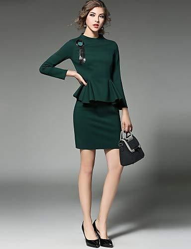 63ec1ced5 YFLTZ Vestido de Novia Chic Sofisticado de la Calle de Las Mujeres - Color  sólido