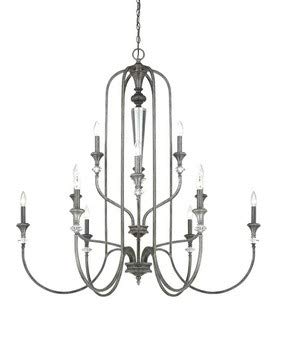 - Craftmade Lighting 26712-MBS Boulevard - Twelve Light Chandelier, Mocha Bronze Finish