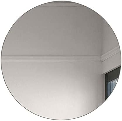 鏡浴室鏡、丸型壁掛け化粧鏡、フレームレス、クリア画像、安全、防爆、抗酸化、変形なし