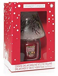 Yankee Candle Set RED Apple Wreath Small JAR and Shade