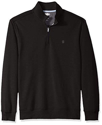 IZOD Men's Advantage Performance Fleece Long Sleeve 1/4 Zip Soft Pullover, New Black, X-Large
