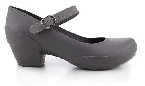 Boaonda Women's Mary Jane Pumps- Comfortable Heels-Galicia (7, Light Gray)