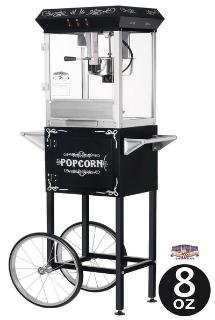 Great Northern Popcorn Black 8 oz. Ounce Foundation Vintage Style Popcorn Machine and Cart by Great Northern Popcorn Company (Image #2)