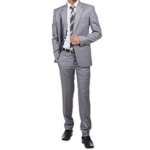 Gold Stitch Premium Textured Two Piece Men's Suit – 8 Colors