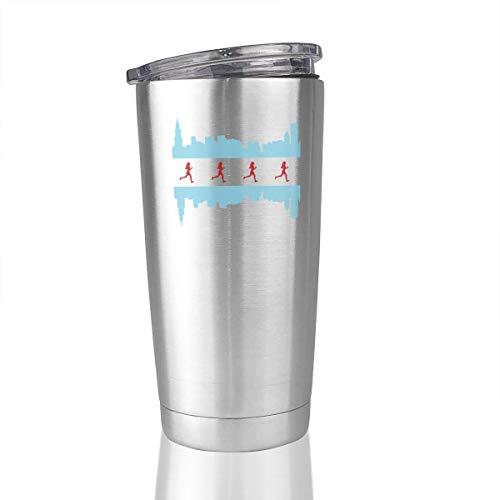 20oz Stainless Steel Tumbler Chicago Runner Vacuum Insulated Coffee Mug Novelty Gift
