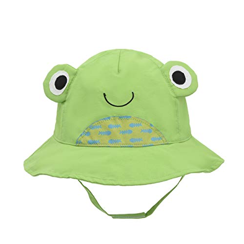 Kids Sun Hat Animal - Toddler Bucket Hats Quickly Dry Sun Protection Beach (XL 52/2-4 Years, Frog)