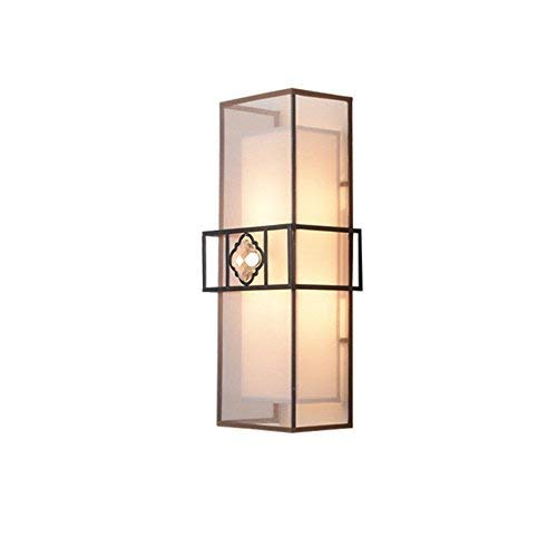 WHKHY Retro Wall Lamp Bedroom Tv Wall Lamp Staircase Corridor Chinese Wall Lamp Iron-of-The-Art Night Table Lamp, 2 Heads E 14, 20 14 50 cm, 201450cm