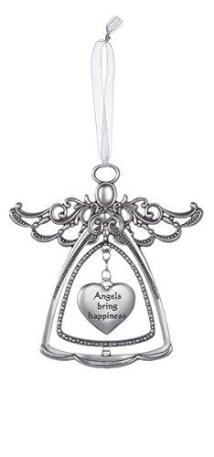 3 Dangling Heart - Ganz 3'' Tall Detailed Angel with Dangling Heart Center Ornament (