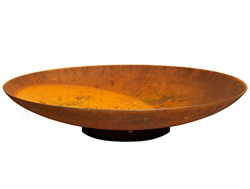 120cm Curved Corten Steel Water Bowl/Water Feature/Outdoors/Home and Garden