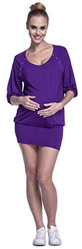 Mini Tunica Mama Rotondo Scollo Allattamento Vestito Pr Happy Donna nHqwaxXa