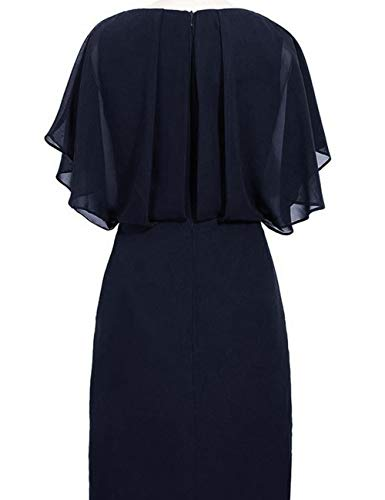 Mother Dress Fuchsia Bridal The Lace Bess Beaded of Chiffon Bride Split Women's 6XqxZB7