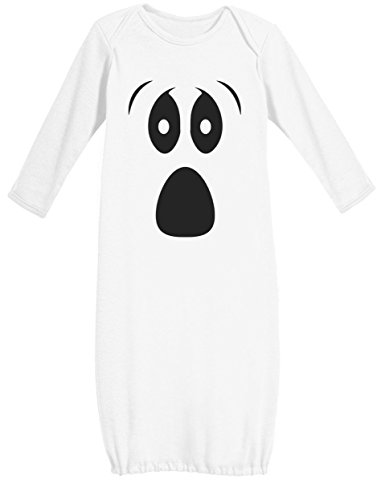 [Baby Halloween Ghost Costume Outfit Cute Infant Newborn Baby Long Sleeve Gown Newborn White] (Ghost Baby Halloween Costume)