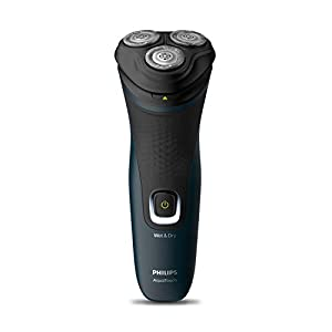 Philips S1121/45 Cordless Electric Shaver, 3D Pivot & Flex Heads, 27 Comfort Cut Blades, Up to 40 Min of Shaving