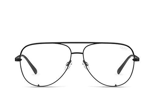 QUAY AUSTRALIA Women's High Key Mini Blue Light Glasses QUAYXDESI (Black)