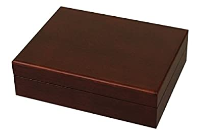 DA VINCI Solid Wood Mahogany Golf Ball Box with Space for 12 Balls (Balls not Included)