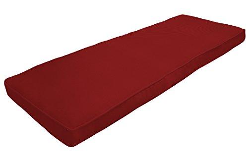 Amazon Custom Furnishings x Easy Way Products 20679 Custom Zipped Double Piped Bench Cushion, 44