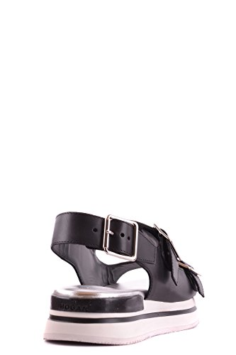 Hogan Black Leather Sandals MCBI148068O Women's pPwOqgrApx