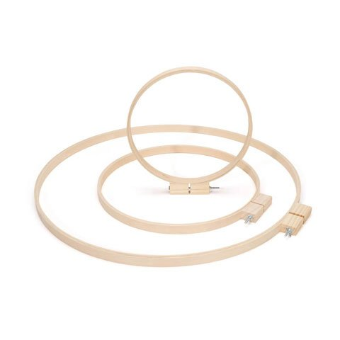 Bulk Buy: Darice DIY Crafts Wood Quilting Hoops Round 23 inches (3-Pack) 3981 by Darice