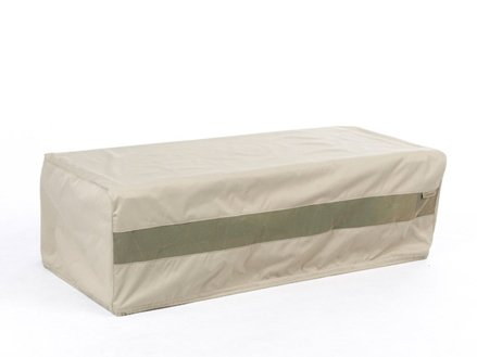 CoverMates – Outdoor Patio Rectangular Accent Table Cover 48W x 28D x 18H – Elite Collection – 3 YR Warranty – Year Around Protection- Khaki by CoverMates