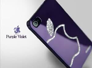 HM art (TM) New Apple Iphone 5 Protective Hard Metal Case Swarovski Diamond Skin Cover in Purple Violet