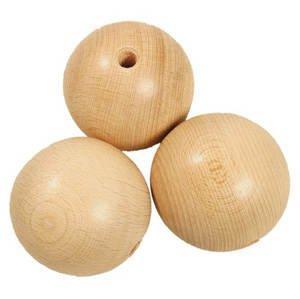 Holzkugeln halbgebohrt, Größe 30mm, 50 Stück Größe 30mm 50 Stück Creativ Discount