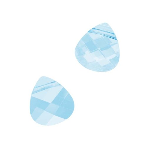 Swarovski Crystal, #6012 Briolette Pendants 11x10mm, 2 Pieces, Aquamarine
