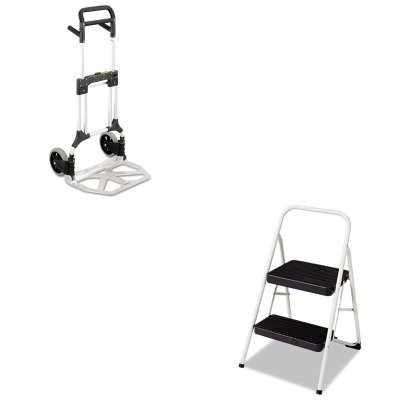 KITCSC11135CLGG1SAF4055NC - Value Kit - Safco Stow-Away Heavy-Duty Hand Truck (SAF4055NC) and Cosco 2-Step Folding Steel Step Stool (CSC11135CLGG1)