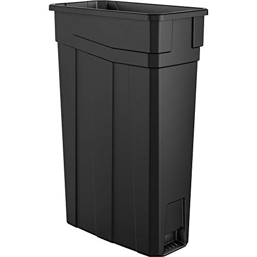 (AmazonBasics 23 Gallon Commercial Slim Trash Can, No Handle, Black, 4-Pack - TCN2030BK4A )