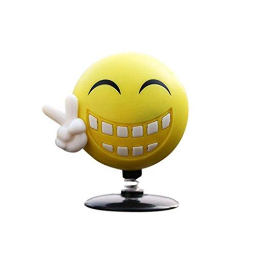 Price comparison product image Mchoice Car Home Perfume Swinging Emoji Dancer Toy Decor Smile diffuser NODDING Gift (B)