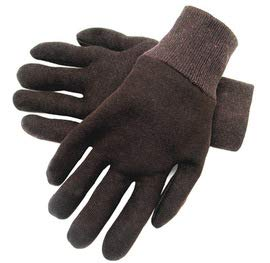 Reversible Gloves Knit - Radnor Brown Ladies 9 oz Cotton and Polyester Reversible General Purpose Gloves with Knit Wrist - 12 Pairs/Dozen (6 Dozen)