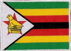 zimbabwe flag embroidered patch