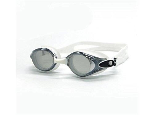 Sky-Grow Confortevole Occhialini da Nuoto Anti-Fog Protezione UV per l'acqua Lenti rivestite Senza perdite (Grigio) Visione Chiara