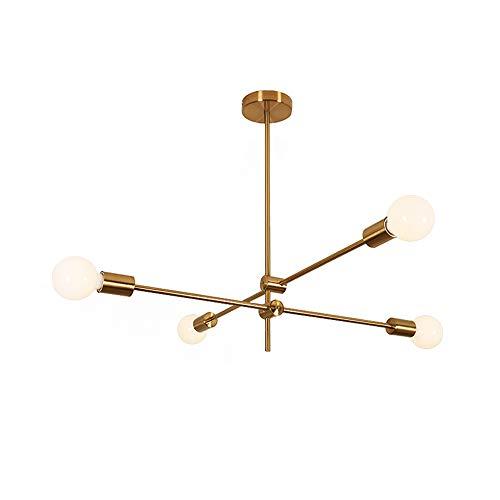 Modo Lighting Sputnik Chandelier 4-Light Golden Pendant Lighting Mid-Century Modern Ceiling Light Fixture for Kitchen…