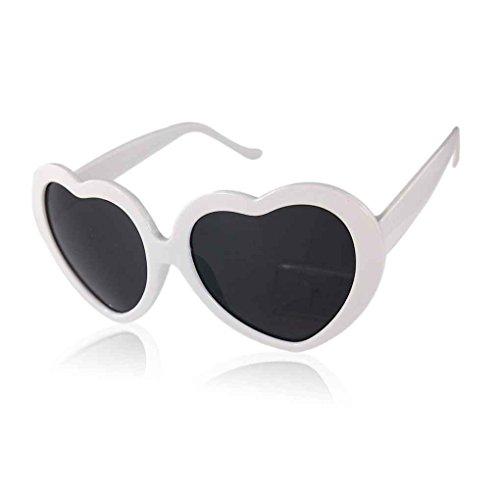 corazón Diseño Amor Negro del forma Blanco sol Gafas Providethebest la de de lindo 4qwcSFY