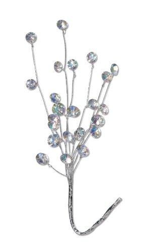 Darice VL26577 23-Stone Crystal Rhinestone Aurora Borealis Pick, 6 by 11-Inch, 3-Pack
