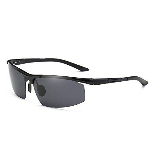 reborde sesgada anteojos Mens gafas la Marco para de gafas aluminio Oculos polarizadas plateado TIANLIANG04 guía azul sol de UV400 Black sin moda de aIwn4vwxq