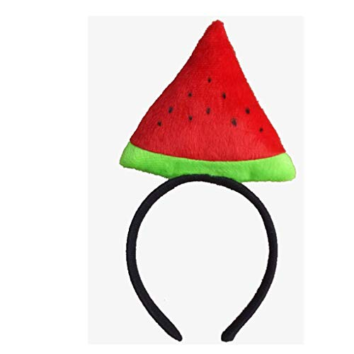 Unisex Children and Parents Party Prop Animal Cosplay Costume Fruit Headgear (Watermelon)]()