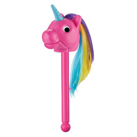 Rainbow Prancers Puppet-on-a-Stick, Pink Unicorn