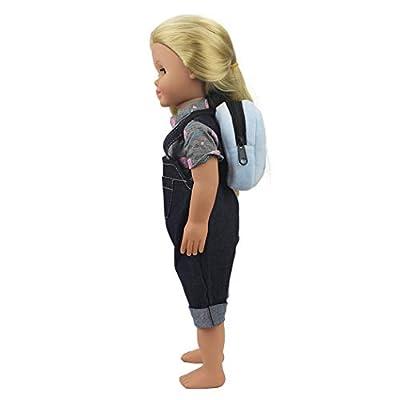 Bageek Doll Backpack Fashion Cute Doll Bag Doll Schoolbag Doll Accessories for 18in American Girl Dolls: Clothing