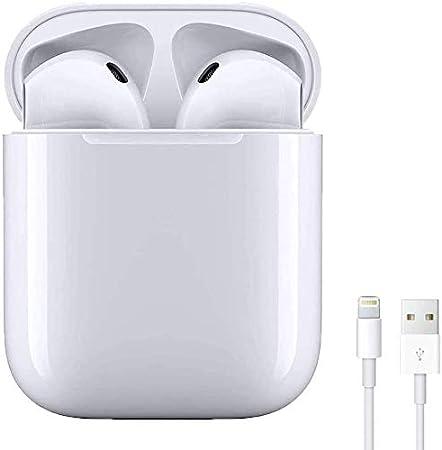 Auriculares Bluetooth 5.0 Auricular Inalámbrico In-Ear Auriculares Micrófono de Reducción de Ruido Incorporado y Caja de Carga Rápida 3D Estére IPX6 Impermeables,para iPhone/Android/Apple