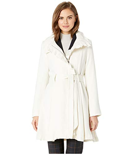 Steve Madden Women's Wool Coat Ivory Large
